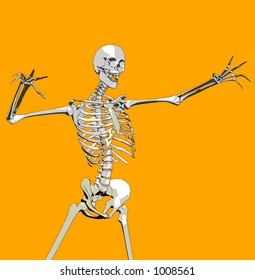 This a skeleton in a pose.