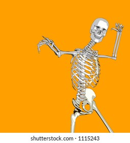 This is a skeleton in a pose.