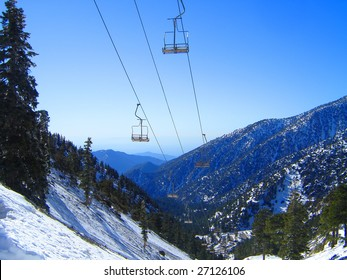 This is a ski lift on Mt. Baldy in California.