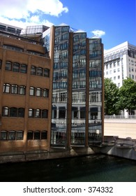 This is some  of many office buildings in London's Docklands.