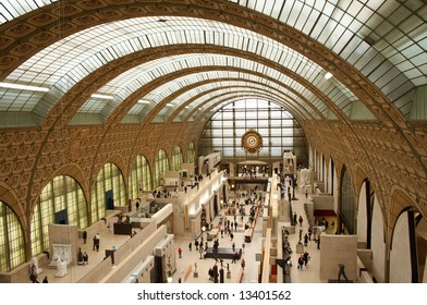 This is a stock photograph of the Musee d'Orsay in Paris, France.