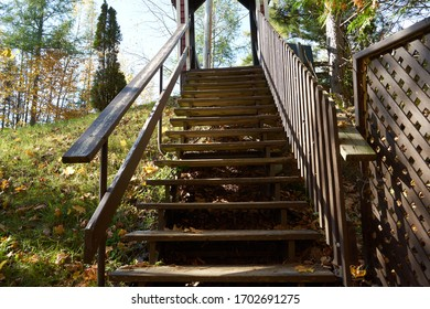 This structure is located in an enchanting and natural place. We assume that we are going to heaven. Ulverton, Quebec, Canada; October 11, 2019.