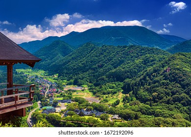 This is the Summer landscape from Yamadera in Yamagata prefecture, Japan. This beautiful landscape will be the one of the destinations to traveling Japan.