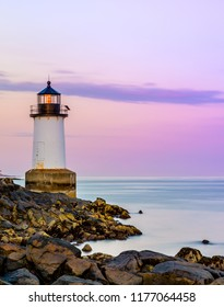 This summer photo of Fort Pickering Lighthouse is loactated in Salem Massachusetts. It is also known as Winter Island Light and it was constructed in 1871!