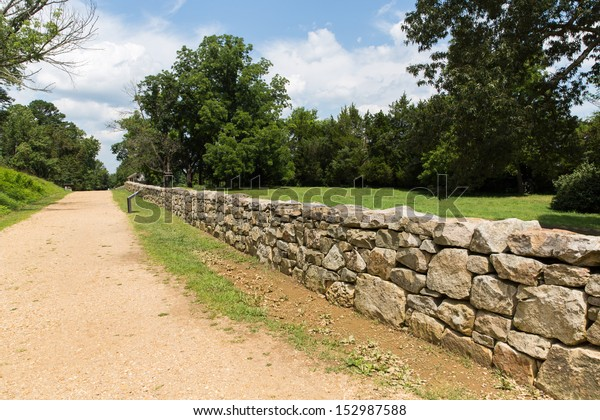 This is the sunken road and a re-creation of the rock wall used by the confederates to defeat the Union Army in 1862.