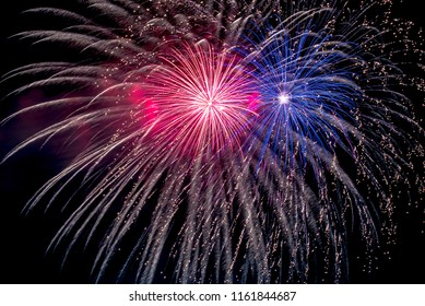 This Tamagawa fireworks display will be held in the riverbed of Tama River which flows between Tokyo and Kanagawa prefecture of Japan. The colorful fireworks are very beautiful.