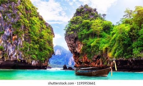 This Thailand Islands are small, high and green.