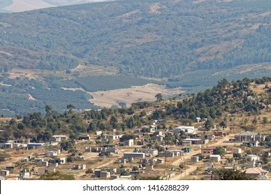 This township started as an illegal settlement invaded by squatters. Evergrowing township next to farmland. Msholozi, Whiteriver South Africa