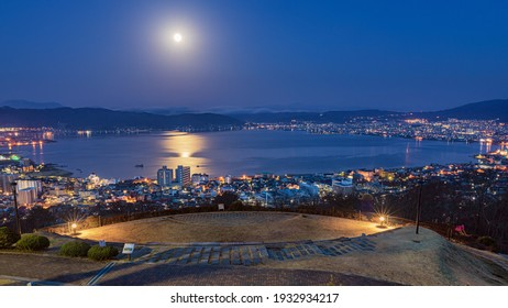 This is the twilight view of Suwa city in Nagano prefecture, Japan.  How about using this image to the background of a calendar, a poster or some promotional materials.