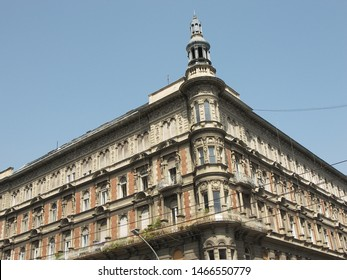 This is the typical neoclassic decoration of a building in Budapest.