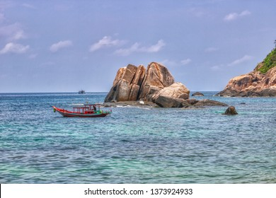 this unique photo shows the notorious tanote bay on koh tao island. Became famous by tourist murders. The nature is unique