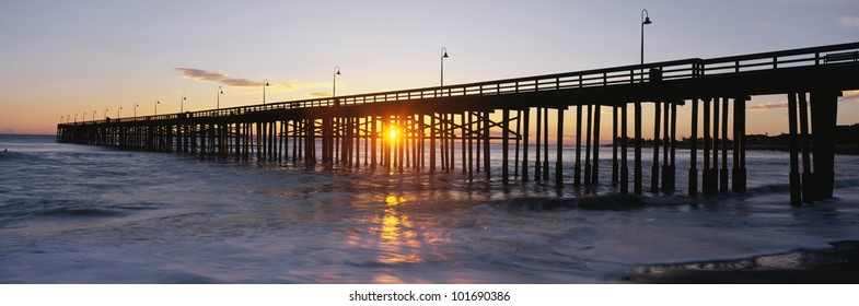 This is the Ventura Pier at sunset.