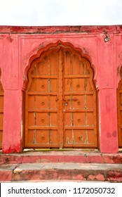 This is very beautiful interior architecture with gate and door in Jaigarh Fort under Archaeological Survey of India located at Jaipur city Rajasthan India