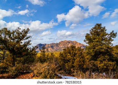 This is a view of magnificent Granite Mountain in Prescott, Arizona.