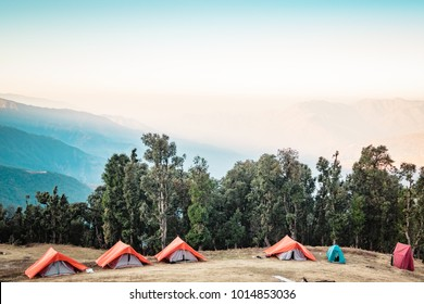 This is the view from Nag Tibba base camp. Nag Tibba is the highest peak in the lesser himalayan region of Garhwal, Uttarakhand, India. It lies at an altitude of 9,915ft from the sea level.