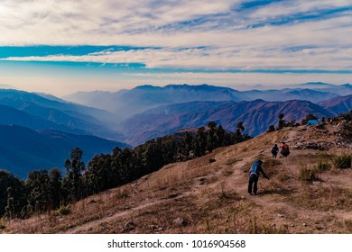 This is the view from Nag Tibba base camp. Nag Tibba is the highest peak in the lesser himalayan region of Garhwal, Dehradun,Uttarakhand, India. It lies at an altitude of 9,915ft from the sea level.