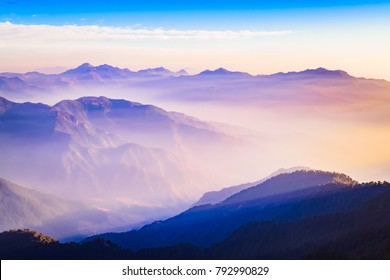 This is the view from Nag Tibba or Serpent's summit. Nag Tibba is the highest peak in the lesser himalayan region of Garhwal, Uttarakhand, India. It lies at an altitude of 9,915ft from the sea level.