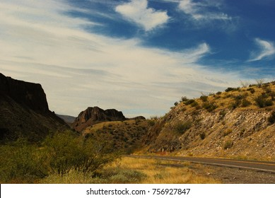 This is a view from the River Road that runs from Big Bend National Park, Texas along the Rio Grande  to Presidio.