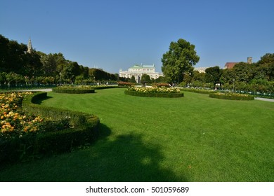 This is a view of Vienna - capital city of Austria. September 17, 2016. Vienna, Austria