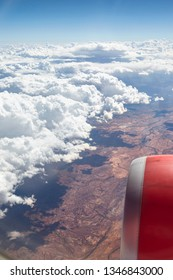 This view from window plane on Astralian continent on summer day