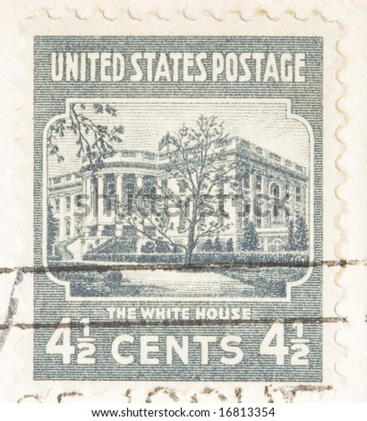 This Is A Vintage 1938 Four And Half Cent White House USA Postage Stamp