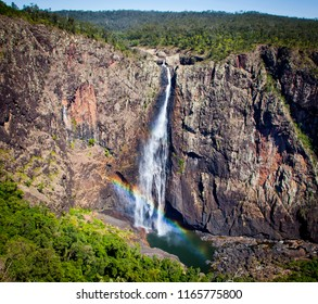 This is Wallaman Falls in the Wet Tropics World Heritage Area. It is Australia's highest permanent single drop waterfall. This photo was taken from the viewing platform.