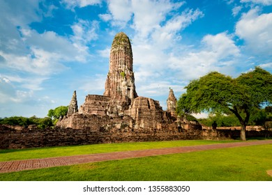 This is the Wat Phra Ram Temple  In Ayutthaya Historical Park , Ayutthaya ,Thailand. declared as a World Heritage Site by UNESCO.