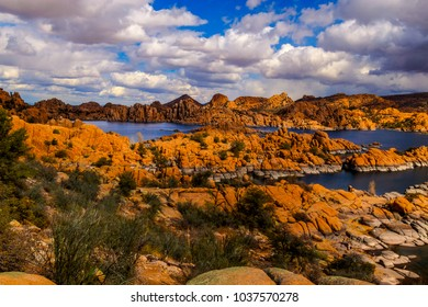 This is Watson Lake in the beautiful Granite Dells of Prescott, Arizona. This area is known for its birding, sailing, hiking, and boating.