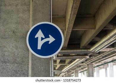 This way - blue road sign Traffic Signs Circle