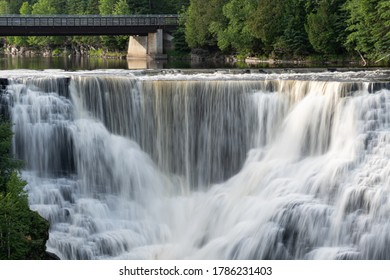 This is a wider view of Kakabeka Falls in Ontario, Canada.  The water cascades toward the middle creating a midpoint for your eyes to be drawn to.
