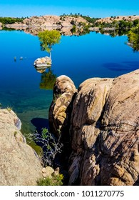 This is Willow Lake in the Granite Dells of Prescott, AZ, one of the most scenic little lakes in this area. It is noted for its spectacular boulder formations.