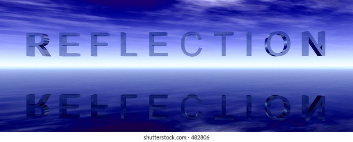 This is a word representing reflection