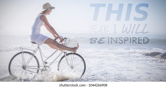 this year I will be inspired against woman riding bike