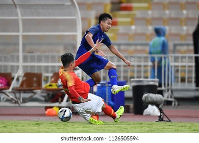 Thitipan Puangchan No.8 of Thailand in action during 2018The International Friendly Match between Thailand and China at the Rajamangala Stadium on June 2, 2018 in Bangkok,Thailand,