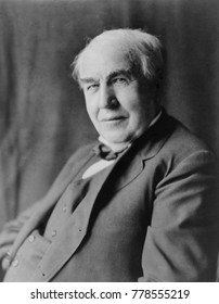 Thomas Alva Edison in 1922. He remained active until his death in 1929 at age 84