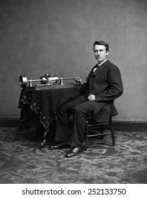 Thomas Edison, ca. 1870's