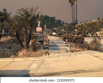 Thomas Fire Devastation, Ventura California.