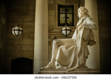 Thomas Jefferson Memorial at Missouri History Museum in St. Louis, Missouri, USA.