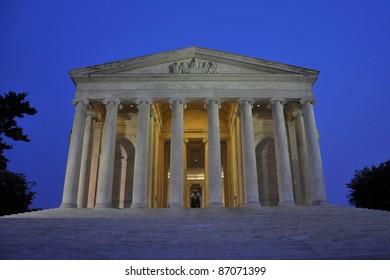 Thomas Jefferson Memorial at night, Washington DC, USA