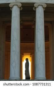 Thomas Jefferson Memorial Pillars Morning