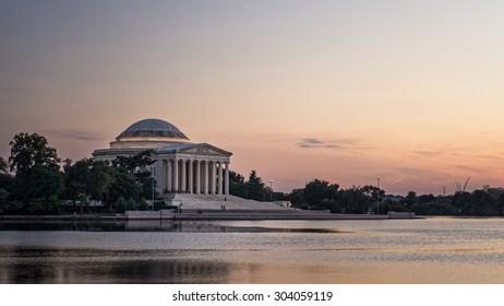 The Thomas Jefferson Memorial at the Tidal Basin, in Washington DC. Photograph shot on September 17, 2014