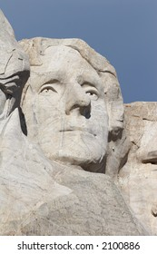 Thomas Jefferson - mount rushmore national memorial - Stone Sculptures of George Washington, Thomas Jefferson, Theodore Roosevelt, and Abraham Lincoln - black hills, south dakota, USA