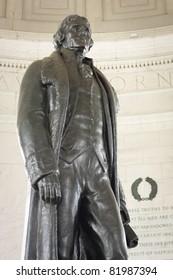 Thomas Jefferson Statue in the Jefferson memorial in Washington, D.C.