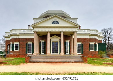 Thomas Jefferson's home, Monticello, in Charlottesville, Virginia.