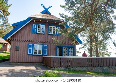 Thomas Mann summer house, old Lithuanian traditional wooden house in Nida, Lithuania, Europe