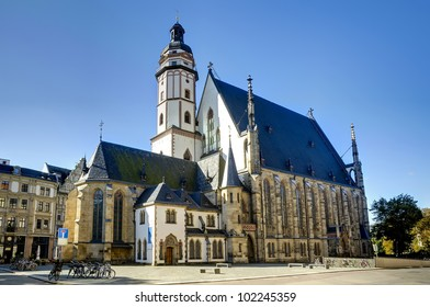 Thomaskirche in Leipzig, saxony, germany