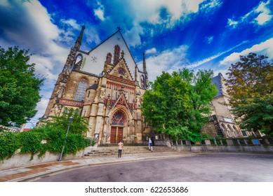 Thomaskirche in Leipzig, Saxony - Germany.