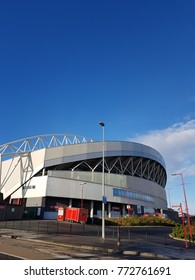 Thomond Park is a stadium - Dec 11th 2017: Located in Limerick in the Irish province of Munster. The stadium is owned by the Irish Rugby Football Union,  Munster Rugby, Shannon RFC and UL Bohemian RFC