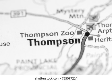 Thompson Zoo. Canada on a map.