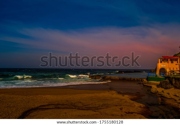 Thompsons bay beach, Picturesque sandy beach in a sheltered cove with a tidal pool in Shaka's Rock, Dolphin Coast Durban north KZN South Africa